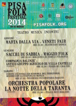 PROGRAMMA PISA FOLK FESTIVAL 2014